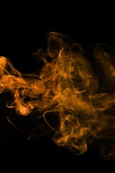 orange smoke background