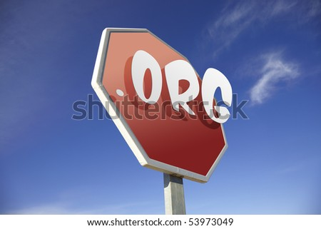 .Org road sign