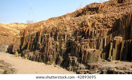 'Organ pipes' - basalt rock formation in Namibia
