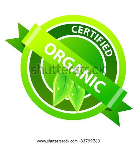 """""""Organic"""" label. Raster version."""