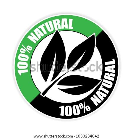 100% organic sticker.