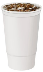 32oz plastic fountain cup with soda