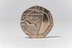 20p 20 pence piece tails