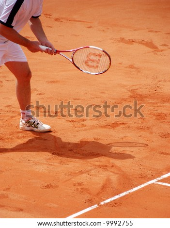 Pagdatis in action during Davis Cup in Cyrpus.