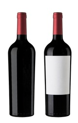 Pair of Red wine Bottles