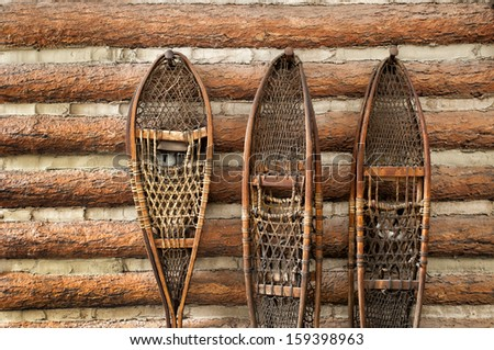 3 pairs of vintage snow shoes...