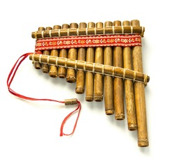 Pan Flute. Woodwind instrument isolated on white background