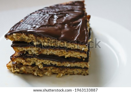 Pancake chocolate cake with nuts. High quality photo ストックフォト ©