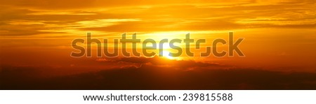 Panorama sunset over the Cotswolds, United Kingdom #239815588