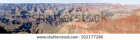 Panoramic view from Yavapai Point of Grand Canyon South rim