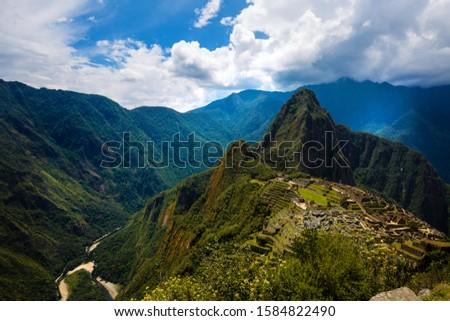 panoramic view of machi picchu