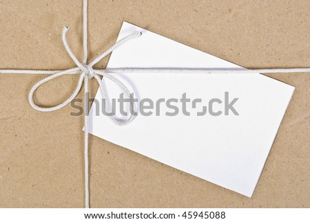 Paper box post package  with blank note
