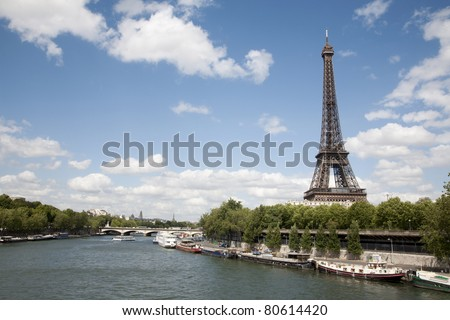 Paris - Eiffel tower from riverside