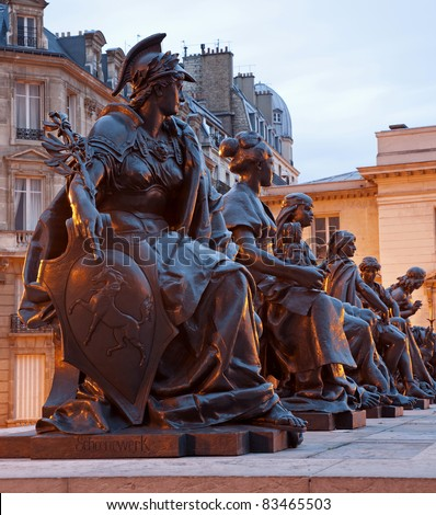 Paris - statue of virtues by Le Musee d'Orsay