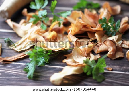 Parsley Chips. vegetable chips. Parsley Chips.