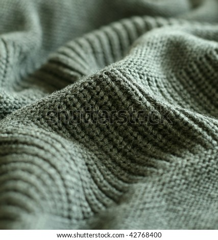 part of knitted wool