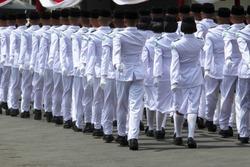 Paskibraka, an Indonesian flag raiser.
