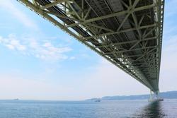 Pass under Akashi Kaikyo Bridge