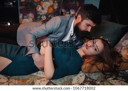 passionate playful couple  #1067718002