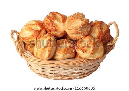 pastries stuffed with cheese - stock photo