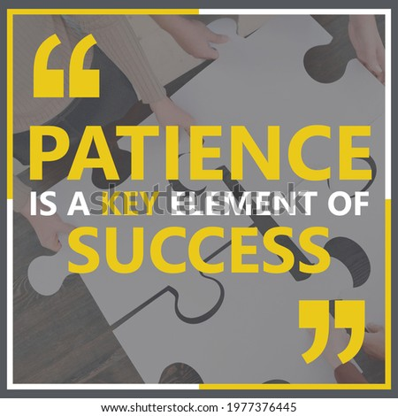 """""""Patience is a key to success"""" Motivation quote-Inspiring Creative Motivation Quote-Poster-Typography T-Shirt Design Concept-Quote  for a successful life-Quote of the Day-Quotes about life-background"""