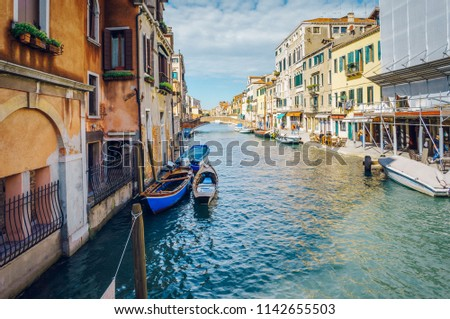 09/20/2017 Peaceful corner at Venice canal, Italy #1142655503