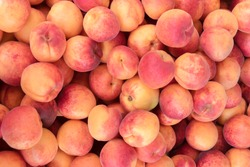 Peaches closeup background