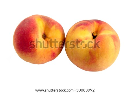 peaches on a white background #30083992