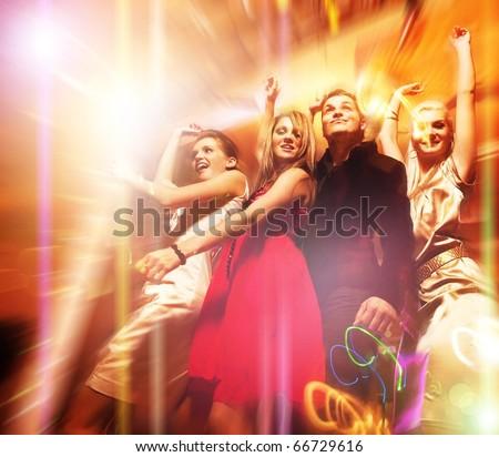 People dancing in the night club #66729616