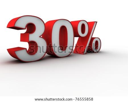 30 percent 3d