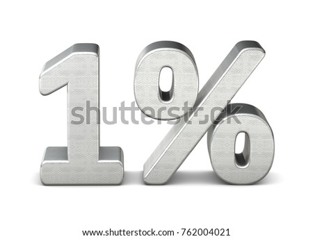 1 percent 3d rendering silver structure