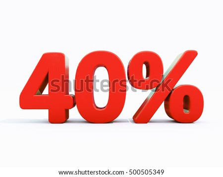 40 Percent Discount 3d Sign on White Background, Special Offer 40% Discount Tag, Sale Up to 40 Percent Off, Sale symbol, Special Offer Label, Sticker, Tag, Banner, Advertising, Badge, Emblem, Web Icon