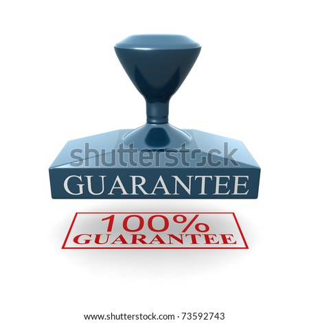 100 percent guarantee silver seal 3d illustration