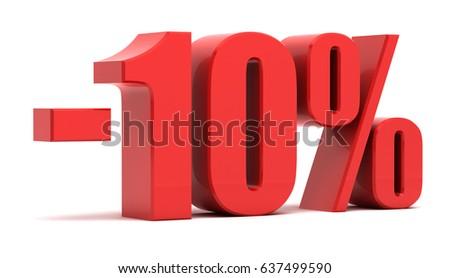 10 percent off.