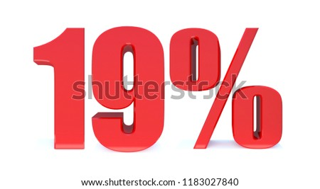19 Percent off 3d Sign on White Background, Special Offer 19% Discount Tag, Sale Up to 19 Percent Off,big offer, Sale, Special Offer Label, Sticker, Tag, Banner, Advertising, offer Icon