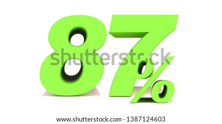 87 Percent off 3d Sign on White Background, Special Offer 87% Discount Tag, Sale Up to 87 Percent Off,big offer, Sale, Special Offer Label, Sticker, Tag, Banner, Advertising, offer Icon