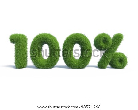 100 percents discount symbol with isolated white background. 3d render