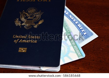 permanent resident card #586185668