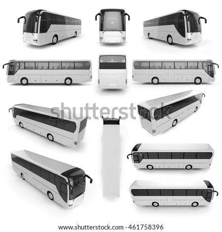 12 perspective view of city bus ...