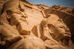2 pharaoh. Abu simbel, Egypt