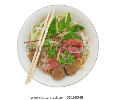 'Pho' bowl of Vietnamese food