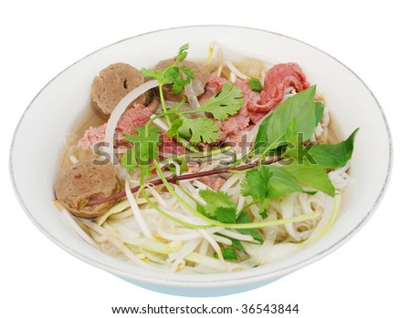 'Pho', Vietnamese nooldes soup