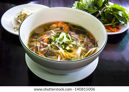 Pho Vietnamese Rice Noodle Soup Pho is a Vietnamese noodle soup consisting of broth rice noodles a few herbs and meat It is a popular street dish in Vietnam and around the world