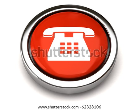 Phone button - stock photo