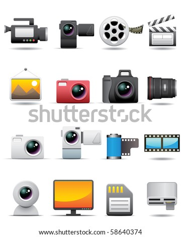 Photo, Video, Film Icons -- Premium Series