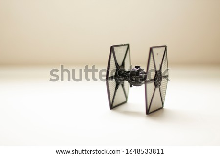 photo with starwars ship  with white background