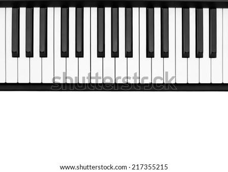 Piano keyboard on white background  #217355215