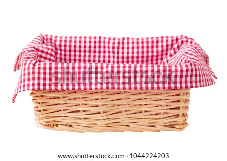 Picnic basket isolated