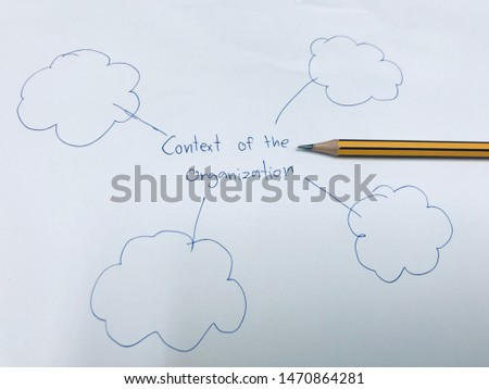 picture concept of context of organization with blank speech for input your context of your organization
