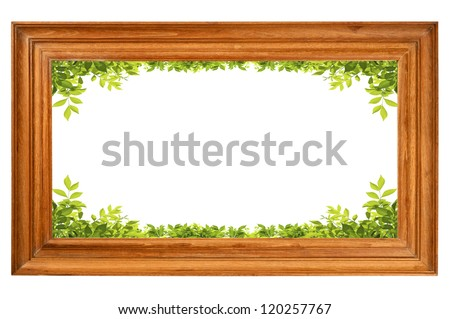 Picture frame with green leaves